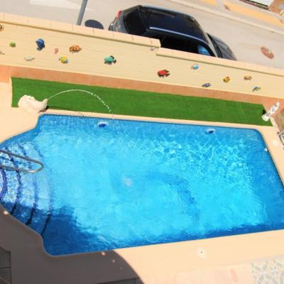 Chalet todo en una planta con piscina en Monforte del Cid